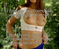 fuck her in the woods
