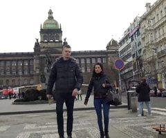 HUNT4K. Hunter finds greedy whore on Vaclavs square in Pragu