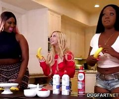 Kenzie Reeves, Jayden Starr and Victoria Cake in lesbian action