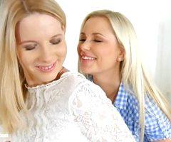 Kiara Night and Lola Myluv in Release the tension lesbian