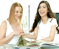 Kiki Cyrus and Anya Krey in lesbian scene Exotic birthday by