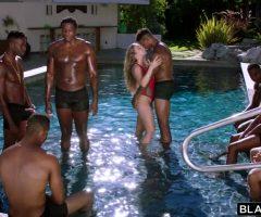 Lena Takes On 7 Guys