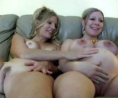 Prego Mommy With Big Natural Tits And Fit Babe -Deviant-