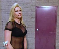 Stephanie McMahon Catfighting Backstage With Sable And Ripping Her Shirt Off On WWE Raw