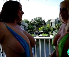 Two moms are pleasuring their big bodies