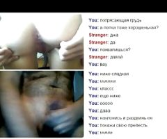 Videochat #35 Hairy girl with dildo and my dick
