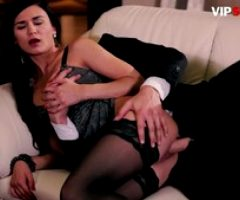 VipSexVault – Pinup Brunette Keira Rides On Thick Cock