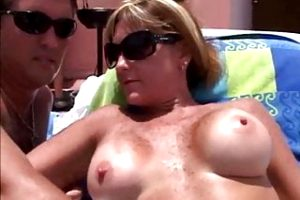 gorgeous milfs having public sex at the resort