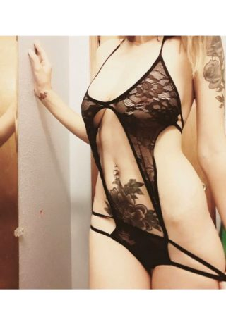 A New Little Black Lace One Piece!