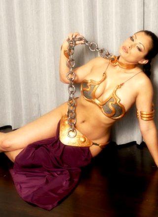 Aria Giovanni As Slave Leia