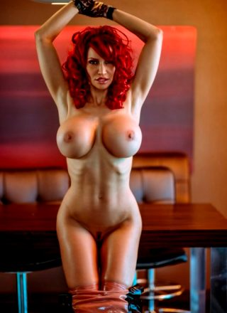 Bianca Beauchamp – The Temp Latex Strip