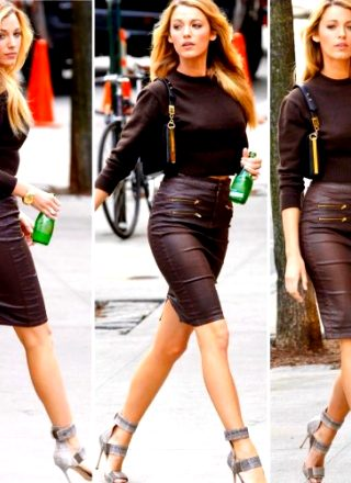 Blake Lively Showing Off Her Perfect Legs In Sexy Outfit
