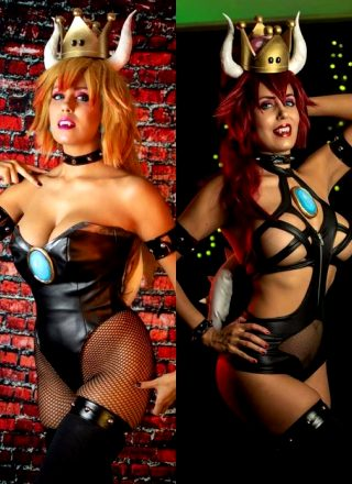 Bowsette Blonde And Redhead Version By Khainsaw