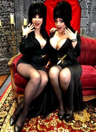 Cassandra Peterson And Alina Masquerade As Elvira