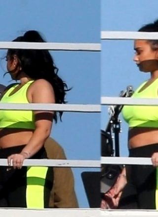 Demi Lovato Looking Dummy Thicc In Candids From A New Photoshoot