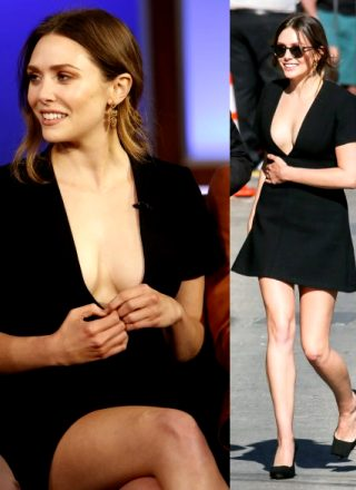 Elizabeth Olsen At Jimmy Kimmel.
