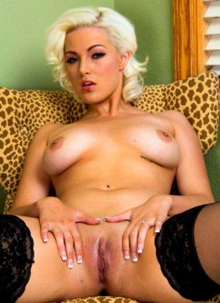 Jenna Ivory Big Ass Blonde In Black Stockings