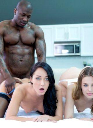 Jillian Janson And Sabrina Banks – Two Girlfriends Share A Huge Black Cock