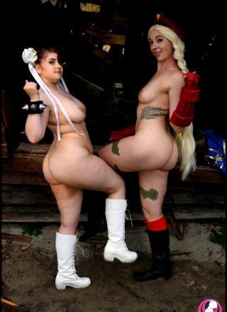 Nude Chun-Li & Cammy By MahouMelon & TinyBat