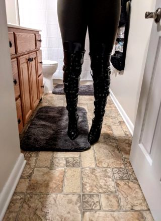 Waiting On My Latex Bodysuit To Be Delivered Tomorrow. Couldn't Help But To Try These Boots On As Soon As They Arrived Today 😍