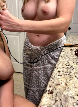 Would You Bend Us Over The Bathroom Counter?!